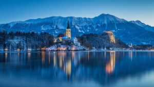 ヨーロッパの冬の風景