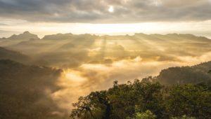 タイの風景 タイの山岳地帯の風景
