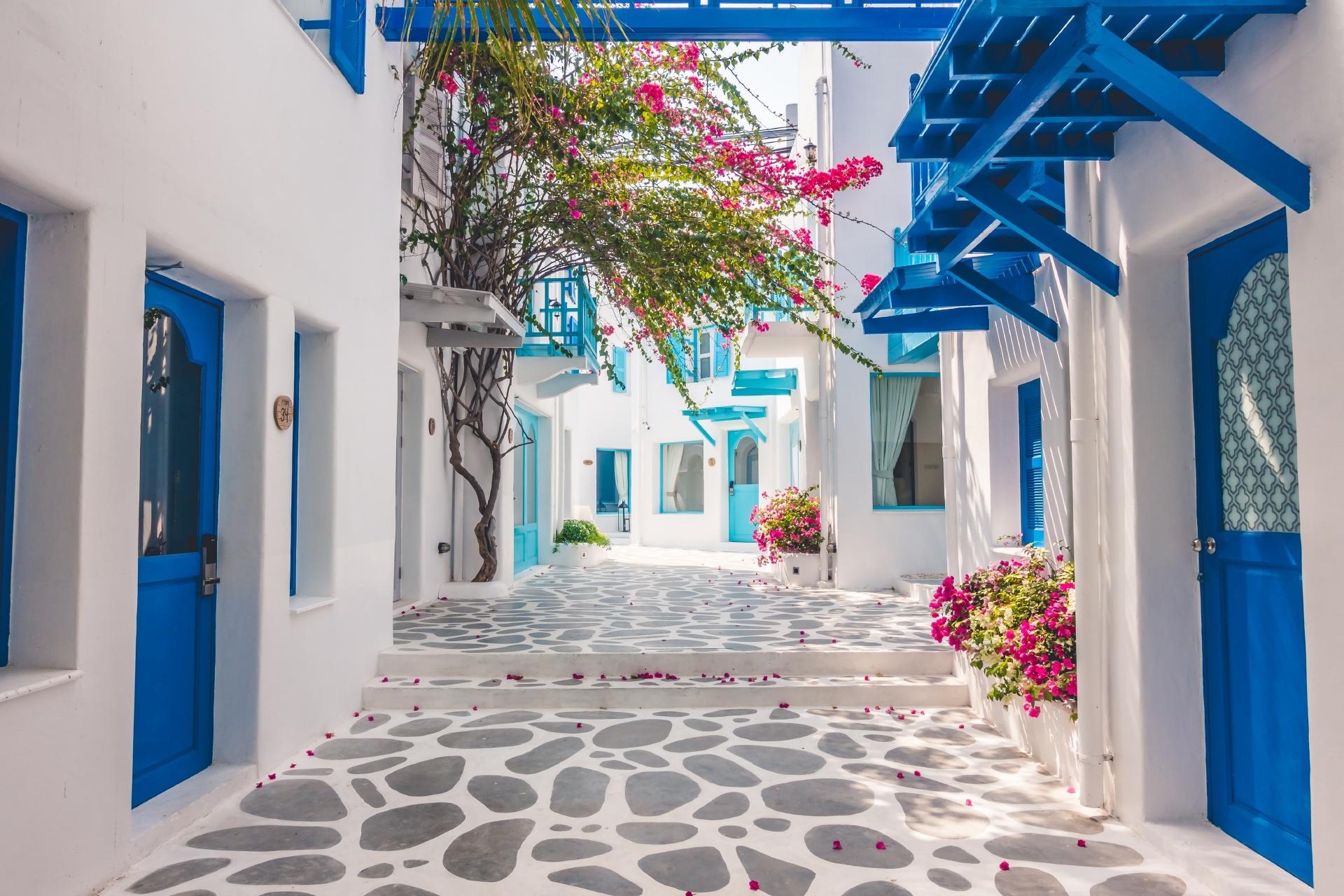 ギリシャ サントリーニ島の路地