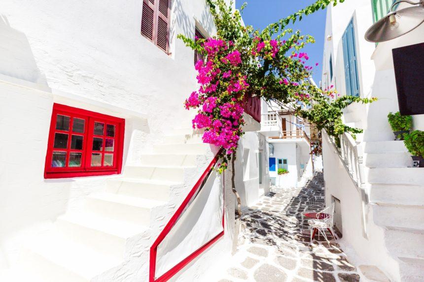 ギリシャ パロス島の路地