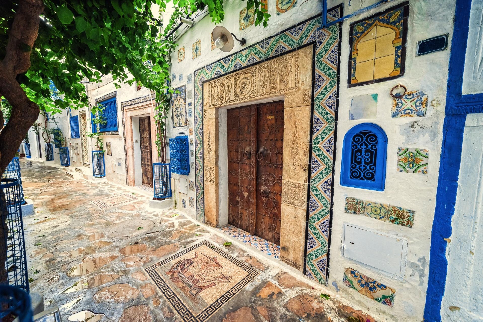 チュニジア チュニスの路地