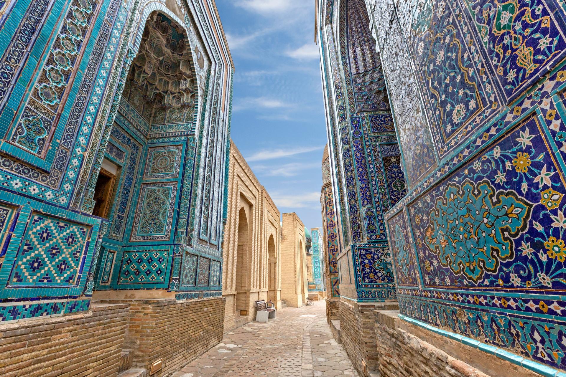 ウズベキスタン サマルカンドの路地