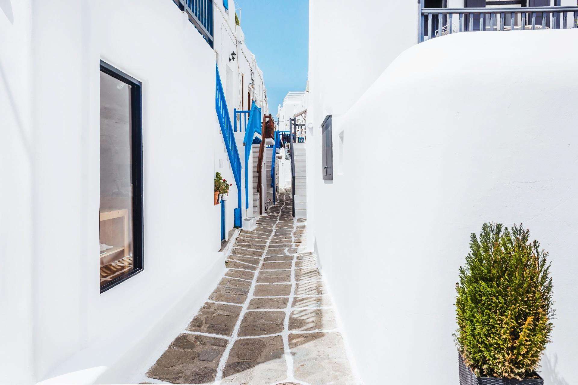 ギリシャ ミコノス島の路地
