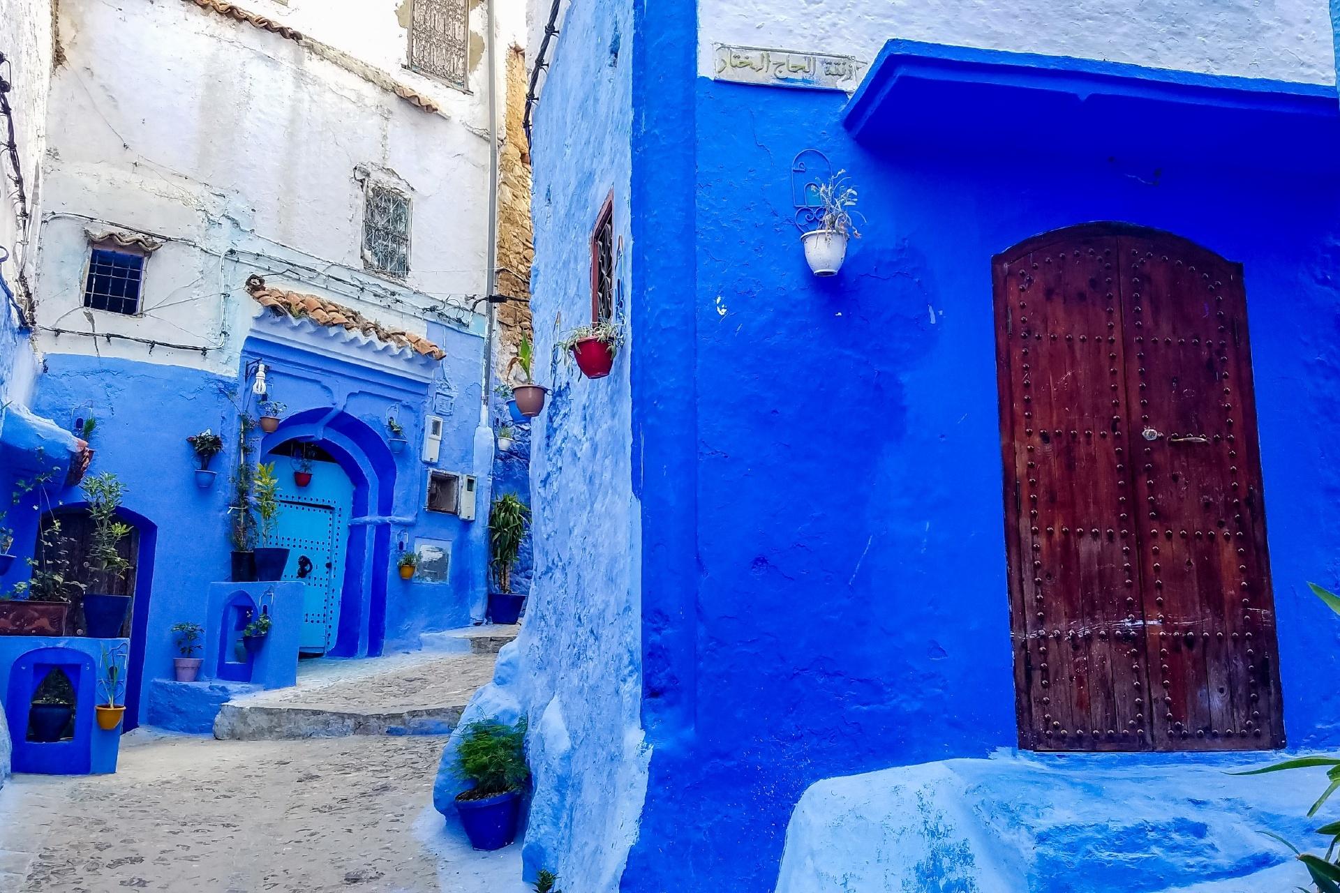 モロッコ シャウエンの路地