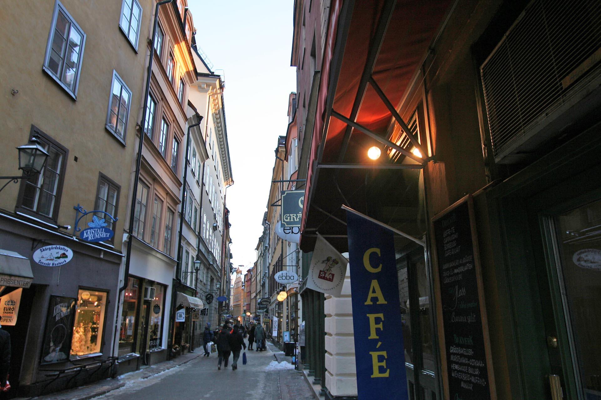 スウェーデン ストックホルムの路地