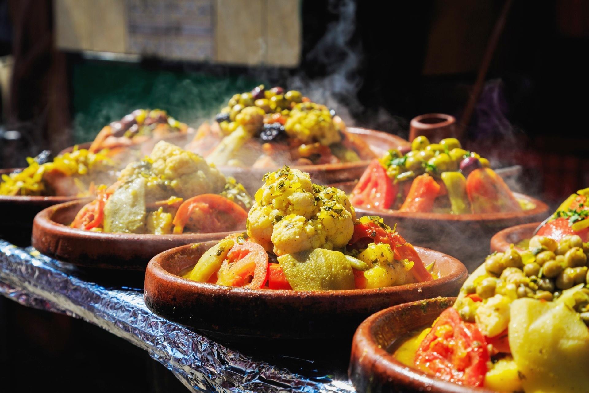 モロッコの市場の風景