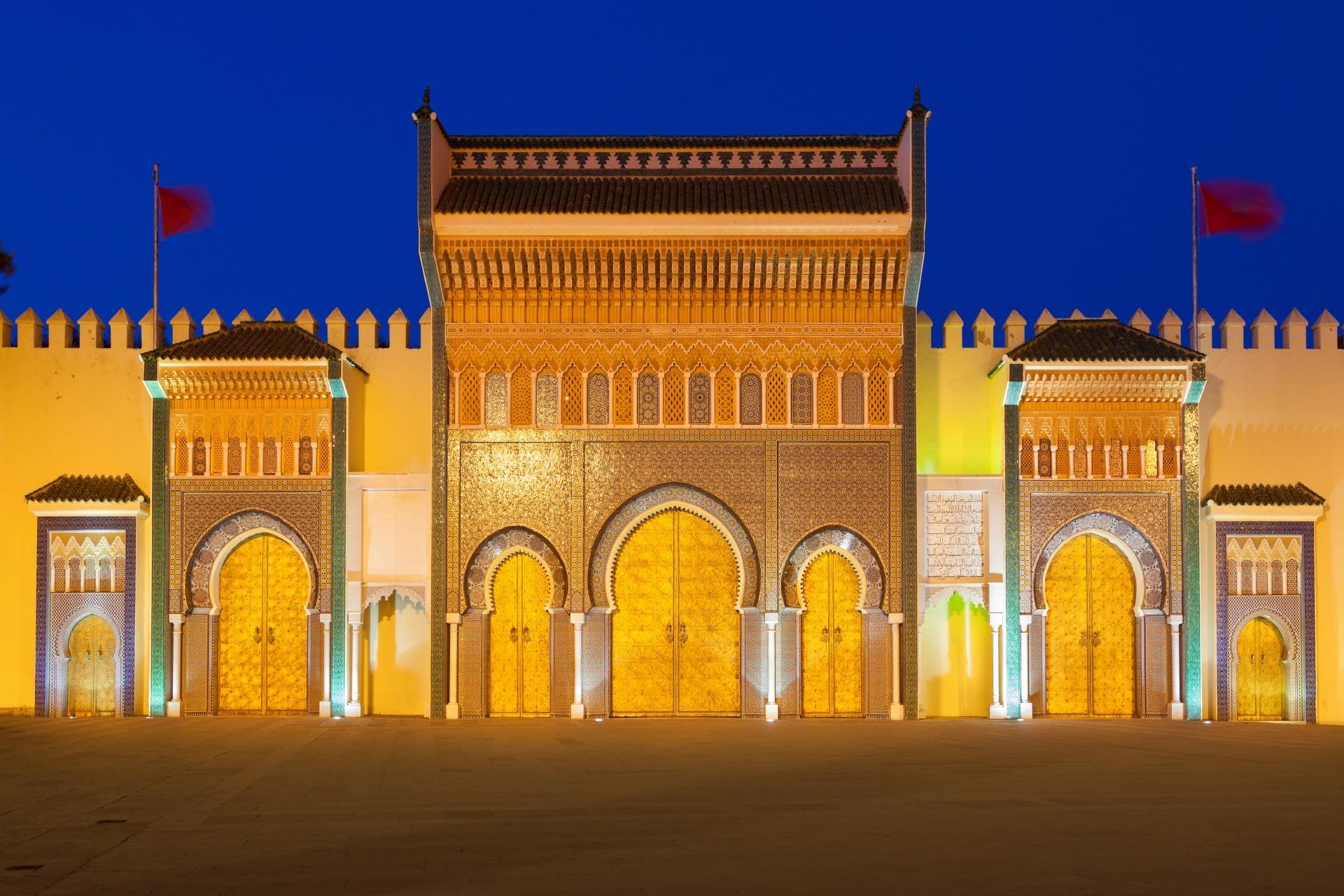 モロッコ 夜のフェズの王宮