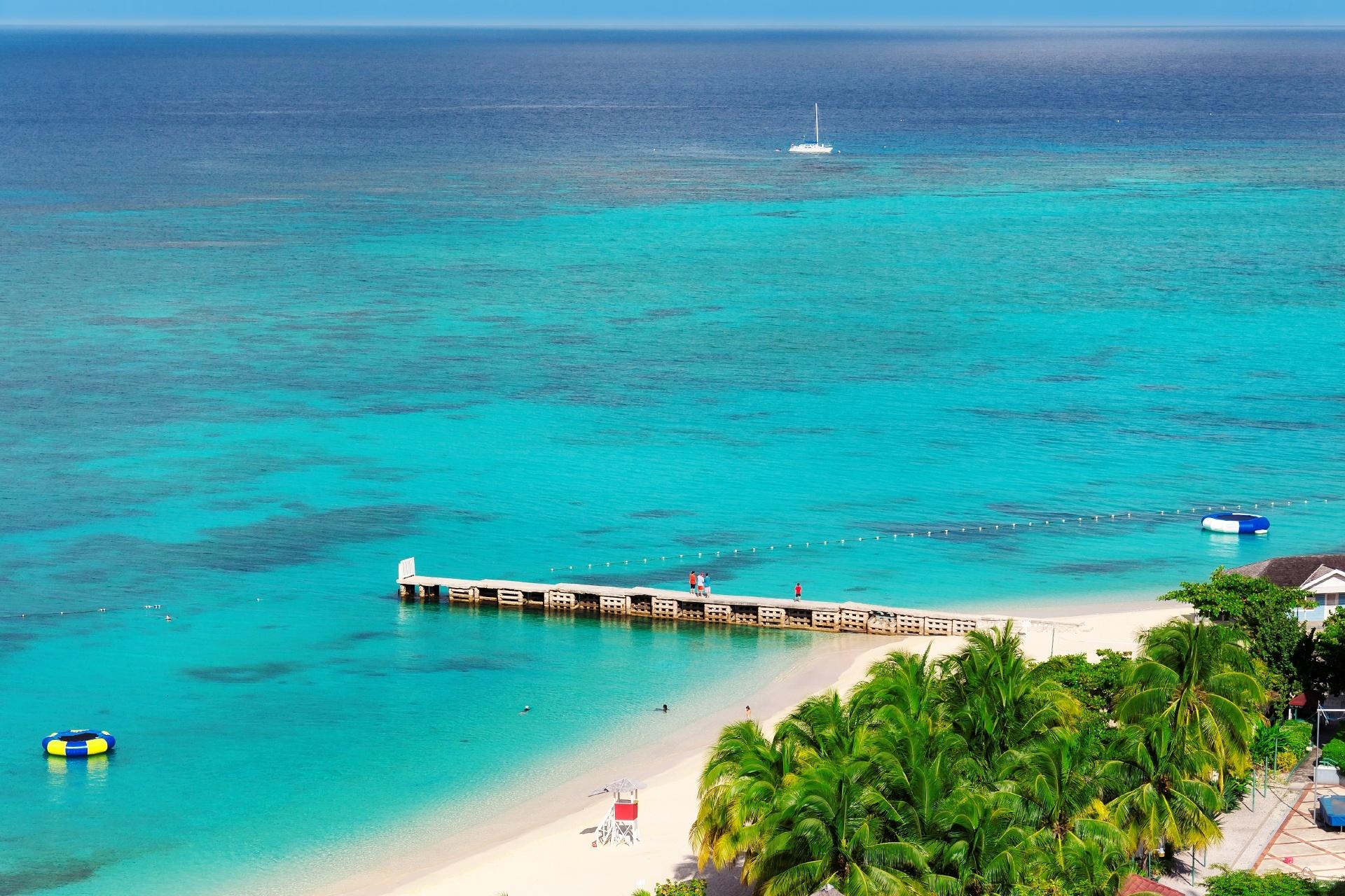 カリブ海のビーチ ジャマイカの風景