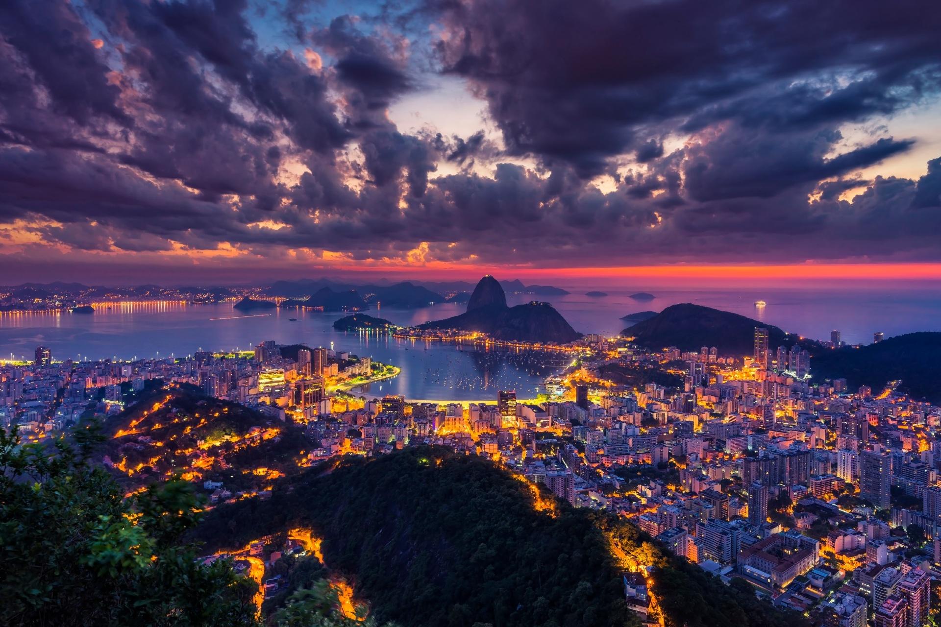 夕暮れのリオデジャネイロ ブラジル