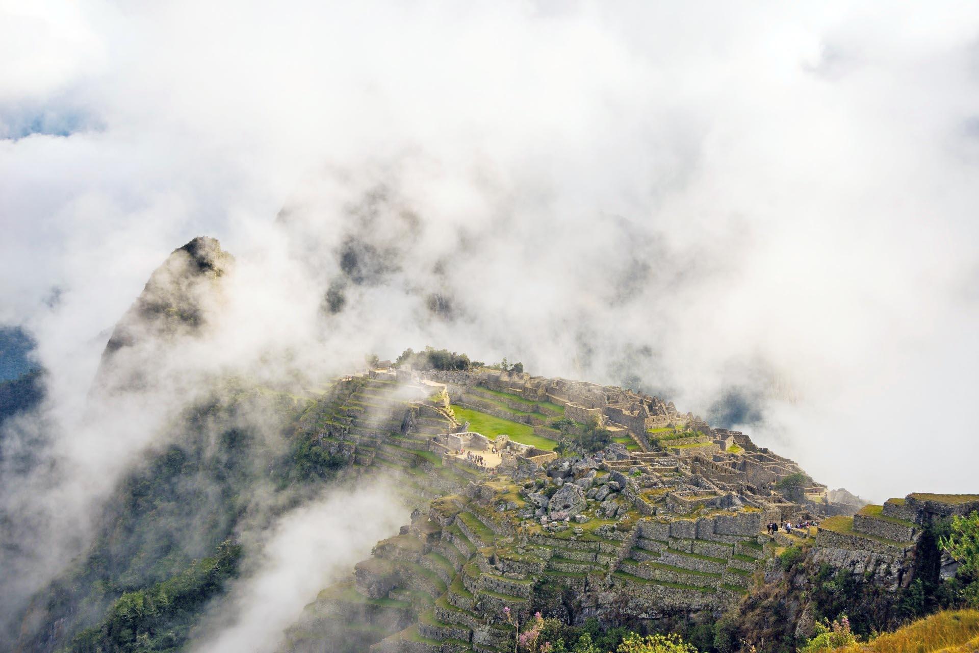 インカ帝国の都市マチュピチュ ペルー