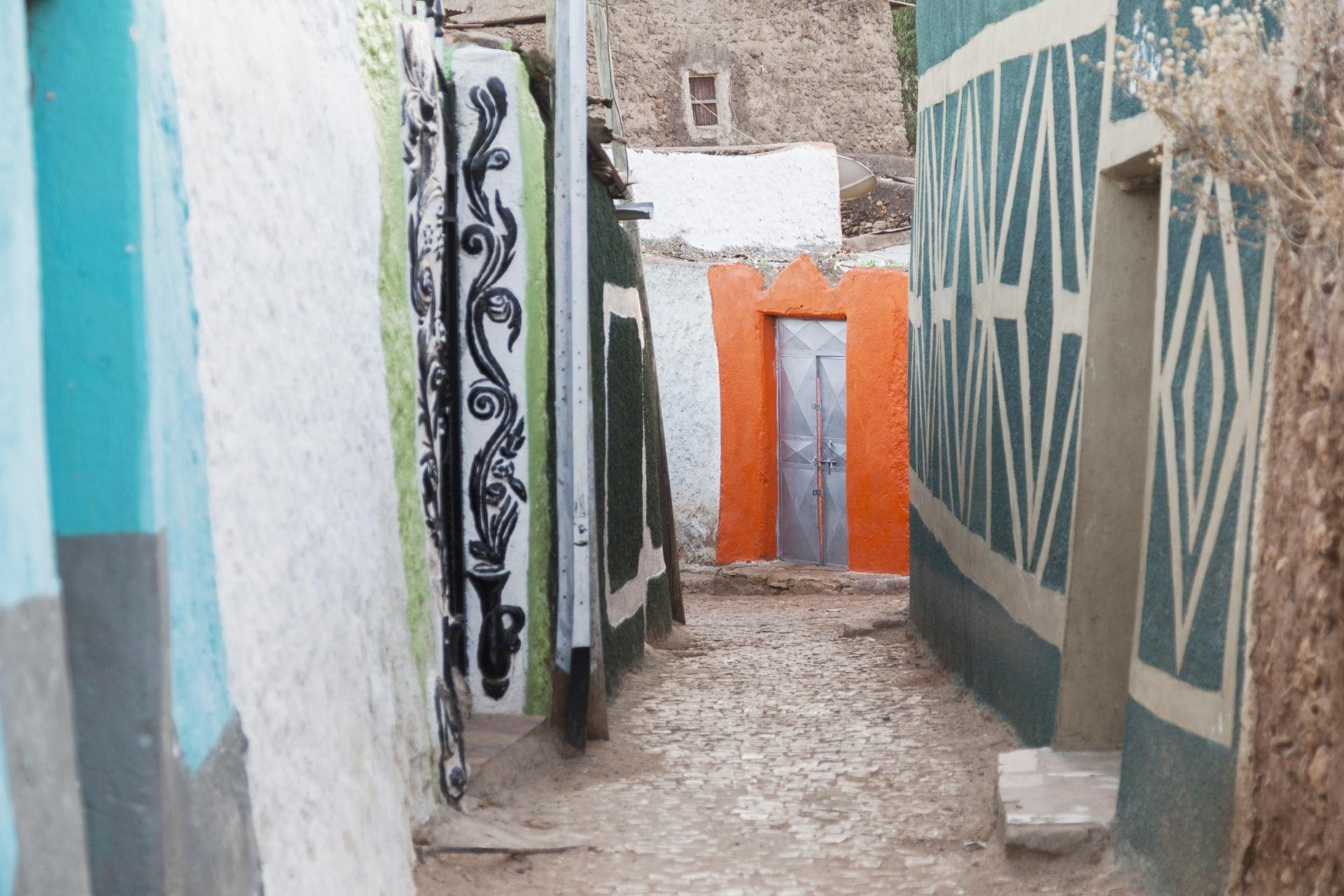 歴史的城塞都市ハラール・ジュゴルの路地 エチオピア